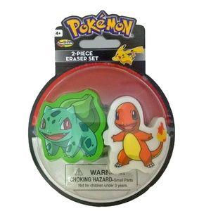 Pokemon 2 Piece Eraser Set - Bulbasaur And Charman